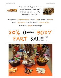 20% off Body Part Sale!