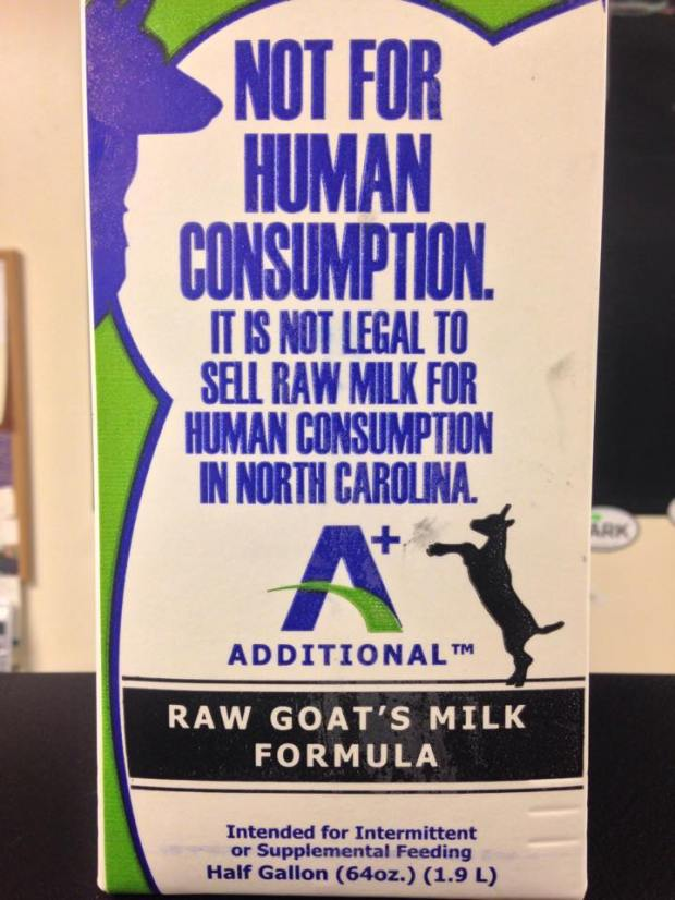 Answers Raw Goats Milk 1/2 gallons!