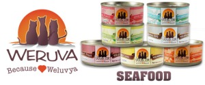 Weruva has 10+ flavors in 3 sizes (not all flavors have 3 sizes) and some with fish and some without. Mideast Feast is most popular for Weruva, Paw Lickin' Chicken is most popular for Purrrfect Bark.