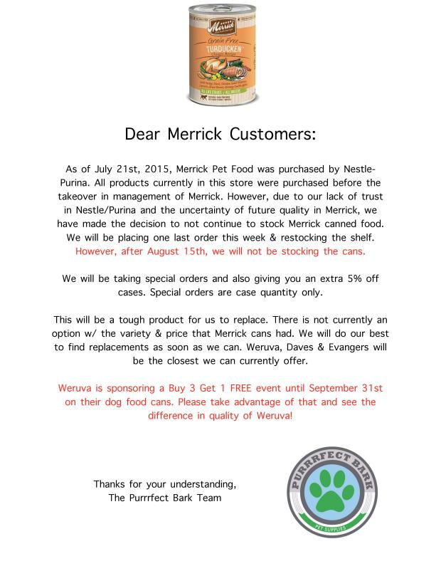 Please read about the future of Merrick Cans